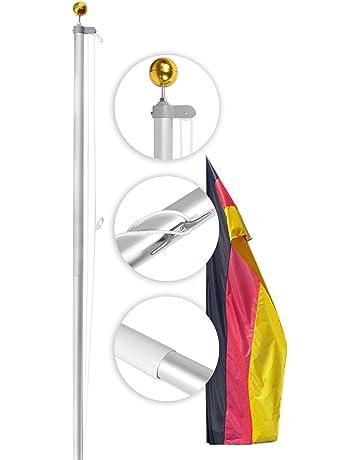 Fahnenmast Zubeh/ör Kit Seil Hof Gold Ball Garten runde Form Reparatur Home Cleat Clip Decor Riemenscheibe Schrauben im Freien