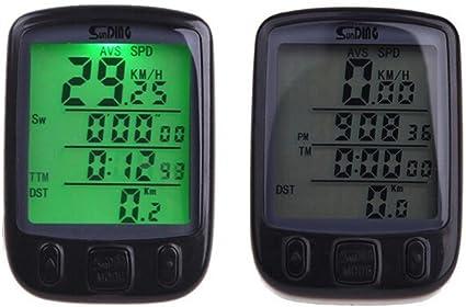 compteur de vitesse LCD pour v/élo Auto Wake Up Backlight pour ttracking Vitesse et distance Bescita Compteur de v/élo /étanche /à leau