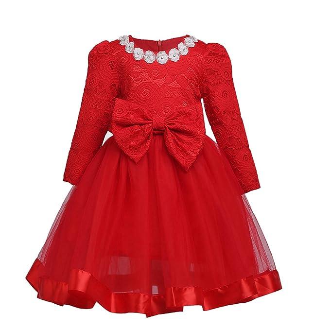 Vestidos de fiesta manga larga rojo