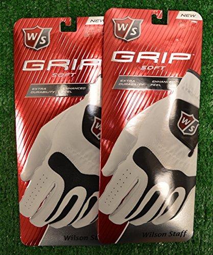 - Wilson 2 Staff Grip Soft Golf Gloves - Right Hand - Large