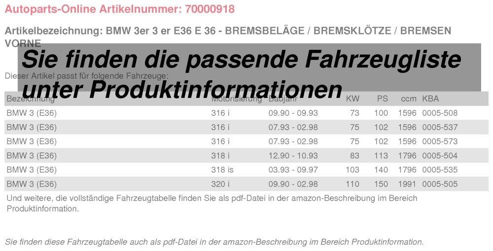 Bremsbel/äge//Bremskl/ötze//Bremsen vorne