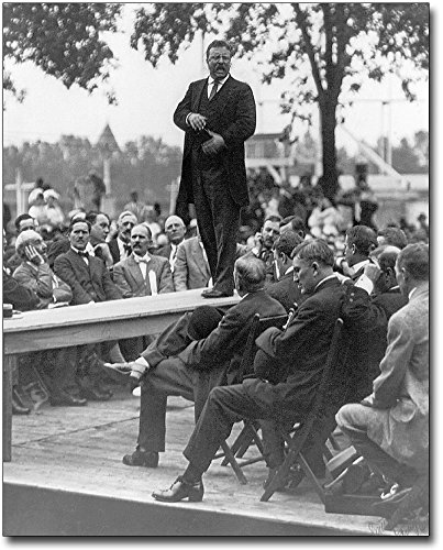 President Theodore Roosevelt Making Speech 8x10 Silver Halide Photo Print