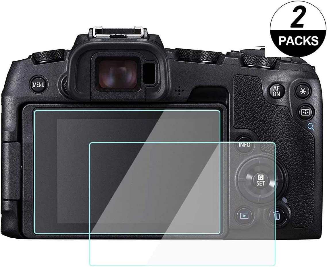 2 Pack WH1916 Tempered Glass Cover Bubble-Free Anti-Scratch Anti-Finger for Canon sl2 Rebel SL2 Glass Screen Protector Compatible for Canon EOS Rebel SL2// Canon EOS M50 M100 200D