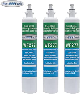 Aqua Fresh WF277 Replacement Water Filter For GE RPWF (Not RPWFE), Water Sentinel WSG-4, GE PYE22KSKBSS, GFE28HSHSS, PFE29PSDASS, PFE29PSDCSS, CFE28TSHSS, CYE22TSHSS Water Filter (3 Pack)