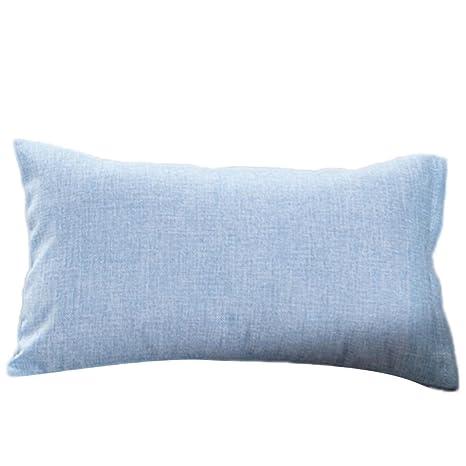 Fundas De Cojines, ❤️Xinantime Cajas de cojín de moda simple Cafe Sofa Funda de cojín Decoración del hogar diferente tamaño (30_x_50_cm, ❤️Cielo azul)