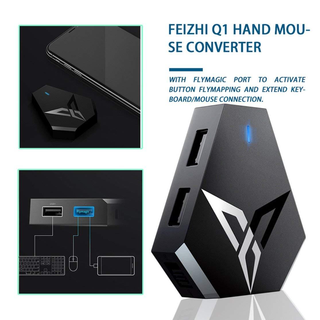 LouiseEvel215 PUBG Mobil FPS-Game-Controller Dual USB Ports Maus und Tastatur-Konverter f/ür Android Phone f/ür iOS