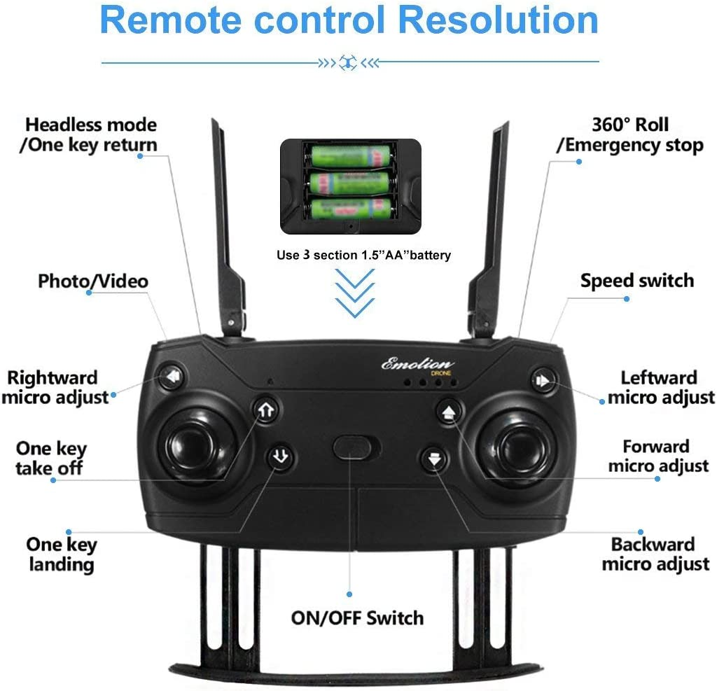 Eachine E58 pocket drone review of transmitter & how to fly instruction