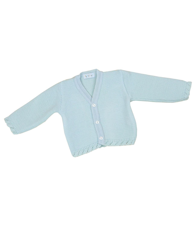 BabyPrem Baby Cardigan Jacket Plain Knitted Boys Unisex 0 - 18 Months