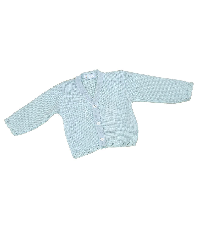 BabyPrem Baby Cardigan Jacket Plain Knitted Boys Unisex 0 - 18 Months BEE017