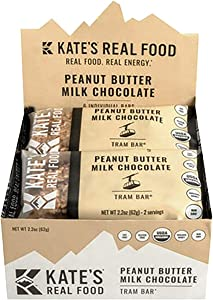 Kate's Real Food Tram Bars - 6-Pack Peanut Butter Milk Chocolate, One Size