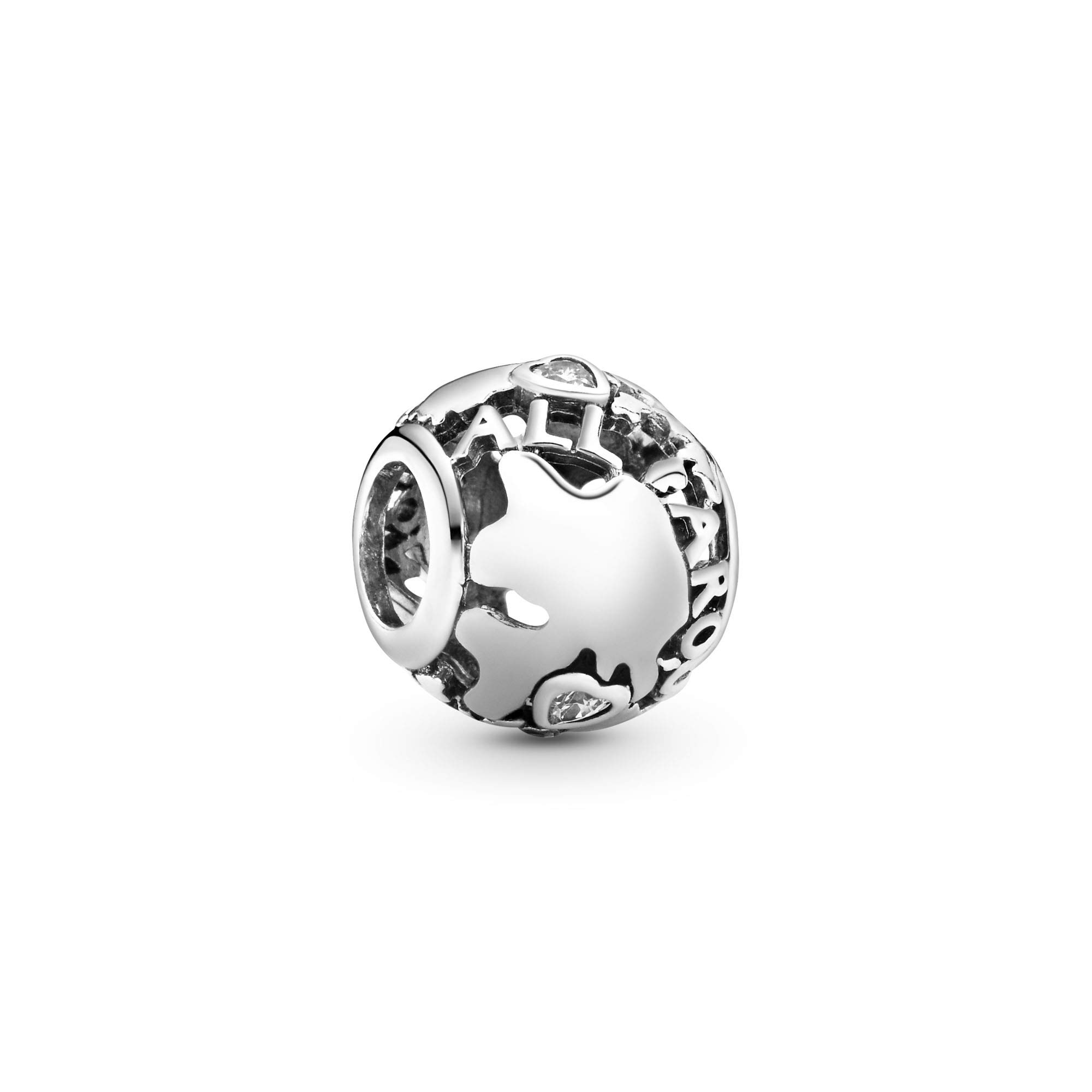 Jewelry Around the World Openwork Cubic Zirconia Charm in Sterling Silver