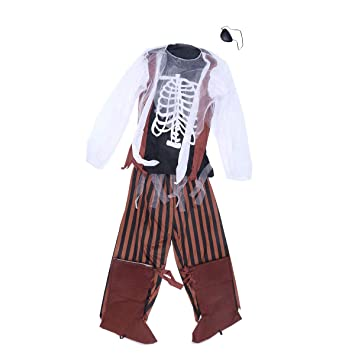 Amazon.com: BESTOYARD Disfraz de pirata de zombi, equipo de ...