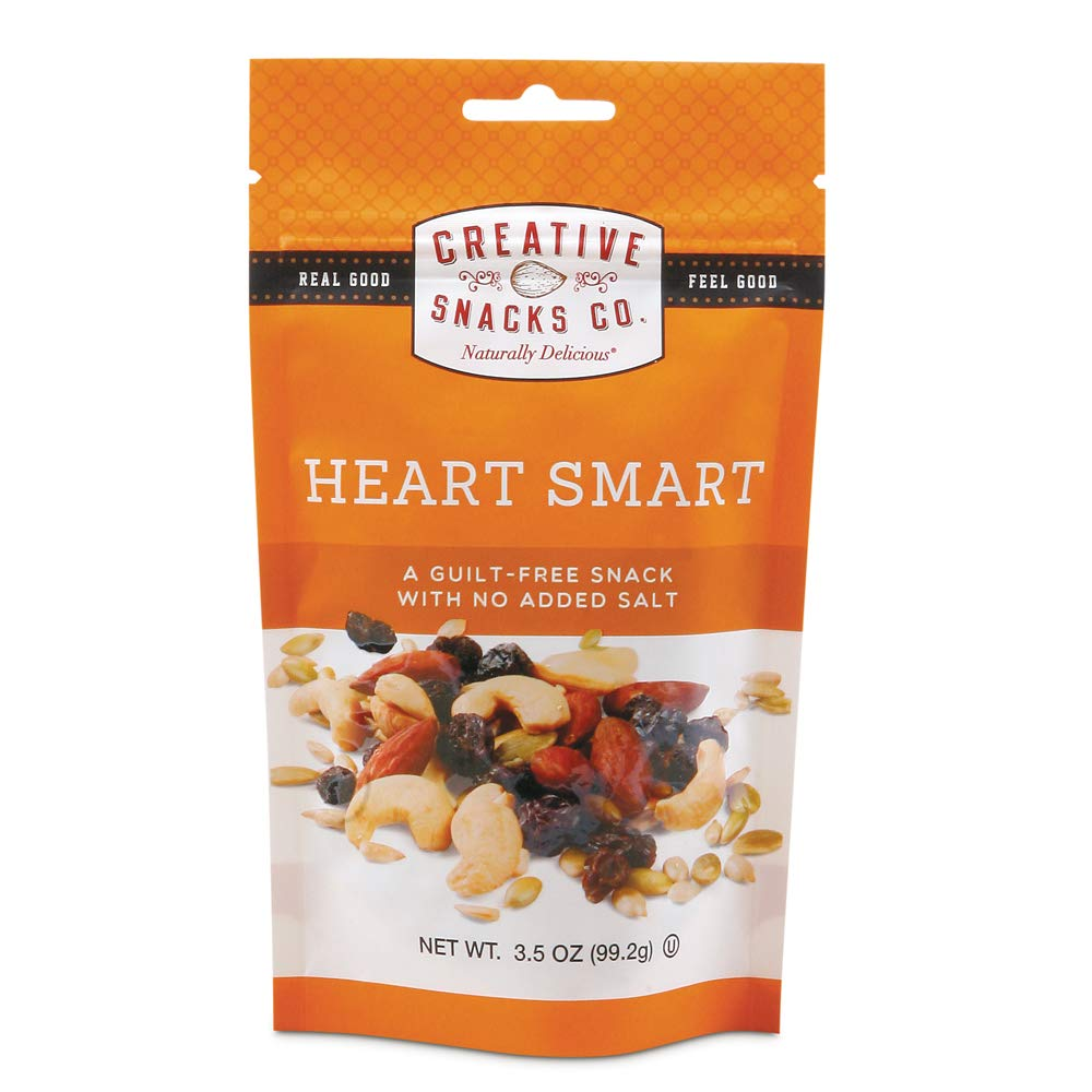 Creative Snacks Heart Smart Trail Mix Snack Bags, 6 Individual Packs, 3 Ounces Each, Resealable