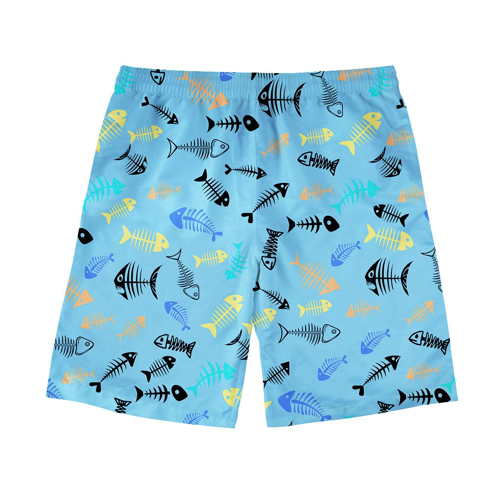 INSTANTARTS Mens Camouflage Printing Quick Dry Beach Board Shorts Swim Trunks