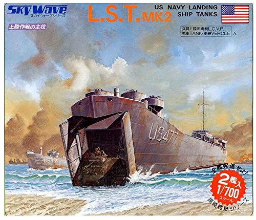 Pit Road 1/700 Sky Wave series United States Armed Forces Tank For vehicle Large landing ship L S T Plastic model SW04