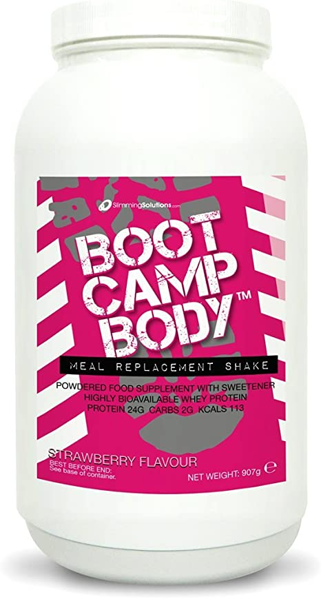 Meal Replacement Protein Powder Shakes For Weight Loss Strawberry Flavoured Boot Camp Body Vlcd Drinks Amazon Co Uk Health Personal Care
