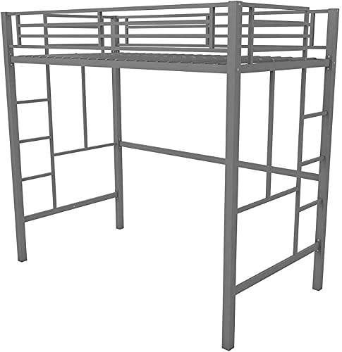 Your Zone.. Metal loft Twin Bed: Multiple Colors Twin