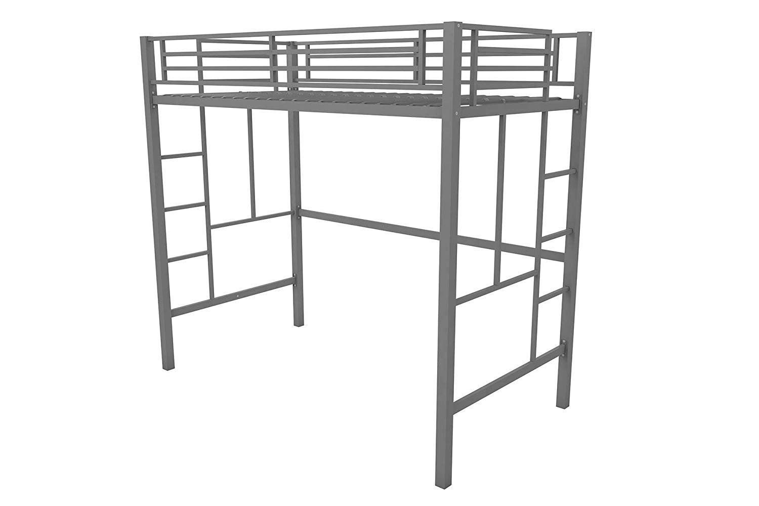 Your Zone.. Metal loft Twin Bed Multiple Colors Twin, Silver