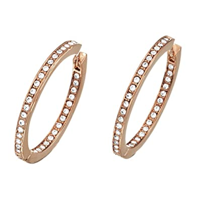 8a7a1fed7 Ladies Guess PVD rose plating Crystal Eternity Hoop Earrings UBE51456:  Amazon.co.uk: Jewellery