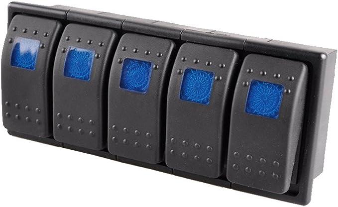 E Support 5 X Kfz Auto Offroad Kippschalter Druckschalter Schalter Wippschalter Wasserdicht 12v 20a Blau Led Licht 4pin An Aus Schalterhalter Auto