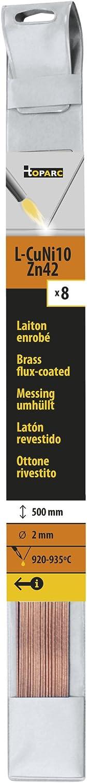 Lot de 8 Baguettes Laiton Enrobee /Ø 2 GYS Longueur 500mm