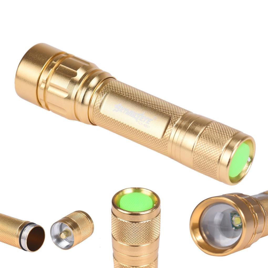 Start Gold Durable Protable Zoomable 3 Modes 3000 Lumen CREE XML T6 LED Focus 18650 Flashlight