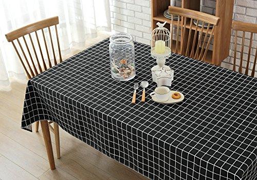 Wimaha Plaid Tablecloth Cotton Linen