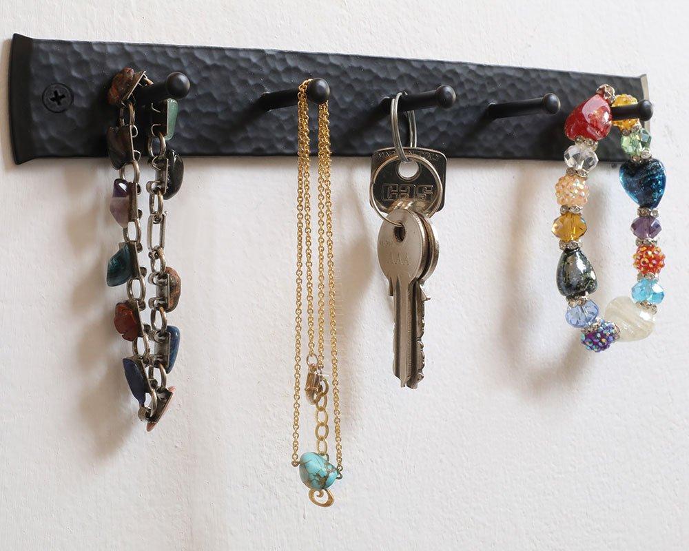 Amazon.com: Soporte para llaves para la pared, hecho a mano ...