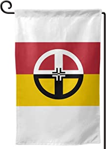 Voglawear Native American Indian Healing Flag Garden Flag Double Sided Bunting for Indoor Outdoor Home Garden Yard Decoration