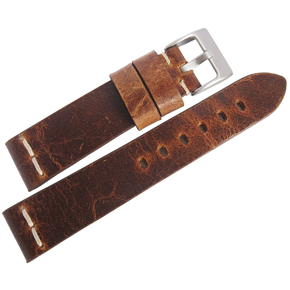 ColaReb 20mm Roma Rust Brown Leather Watch Strap