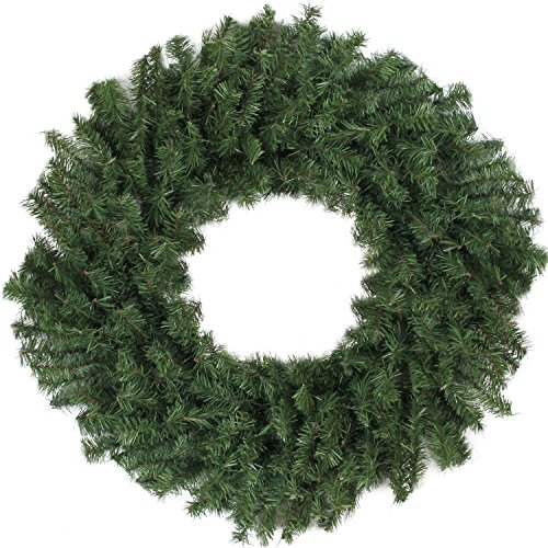 """Northlight 30"""" Canadian Pine Artificial Christmas Wreath - Unlit"""