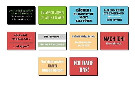 As Office Art 10 Magnete Für Kühlschrank Mit Lustigen Sprüchen 80 X 50 Mm Ms 02 Kühlschrankmagnet Deko Geschenk Spruch Witzig Cool