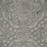 Stone & Beam Floral Wool Rug, 5' x 8', Blue