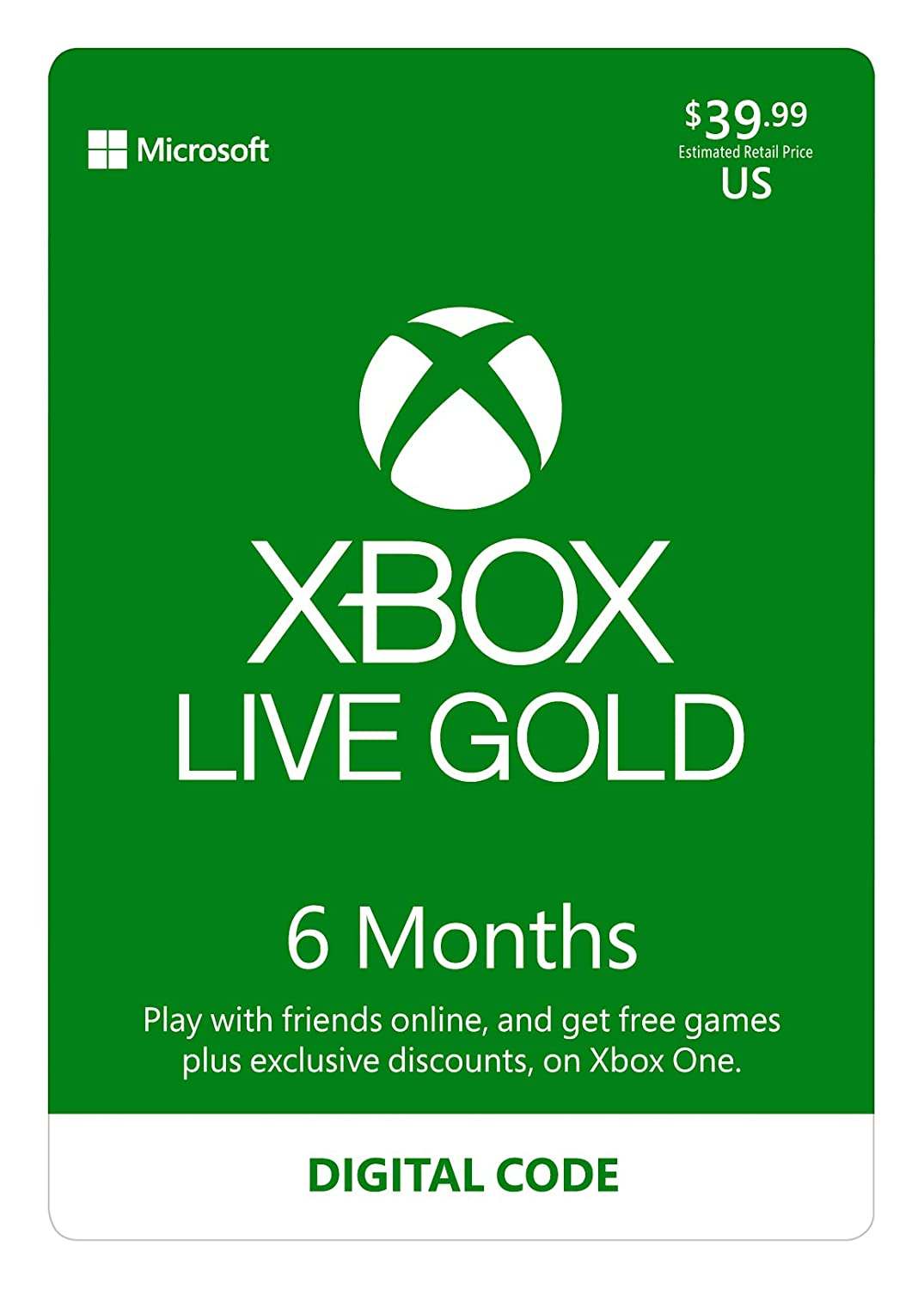 Amazon.com: Xbox Live Gold: 3 Month Membership [Digital Code]: Video Games