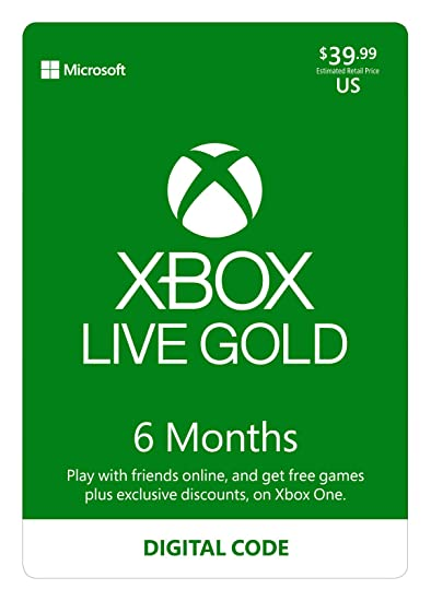 Roblox Gift Card 6 Mouth Amazon Com Xbox Live Gold 6 Month Membership Digital Code Video Games