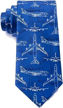 Details about  /Men/'s Microfiber Boeing 747 Airplane Plane Pilot Aviation Skinny Narrow Tie Neck