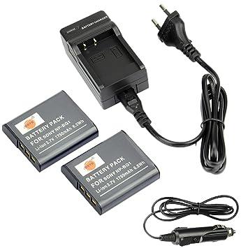 DSTE 2-Pieza Repuesto Batería y DC92E Viaje Cargador kit para Sony NP-BG1 Cyber-shot DSC-H3 DSC-H7 DSC-H9 DSC-H10 DSC-H20 DSC-H50 DSC-H55 DSC-H70 ...