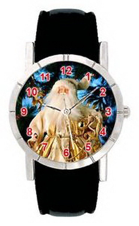 jwl0634サンタクロースクリスマスメンズレディース本革クォーツ腕時計 B01N5G3O7G