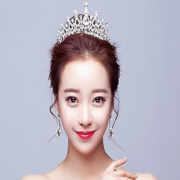 Amazon.com  LOAVER Wedding Pageant Tiara Crystal Bridal Crown Headbands  Rhinestone Princess Crowns for Women Girls (Silver) ( 01)  Beauty 79e196925fd5