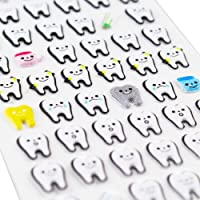 airgoesin 77Pcs/Sheet Molar Shaped Cartoon Tooth Puffy Paper Sticker Dental Clinic Gift