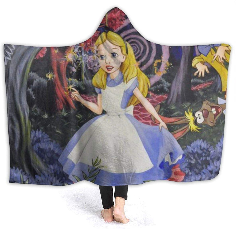 Alice in Wonderland Hooded Blanket