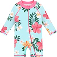 HUAANIUE Baby/Toddler Swimsuit Long Sleeve One-Piece Swimwear Rashguard