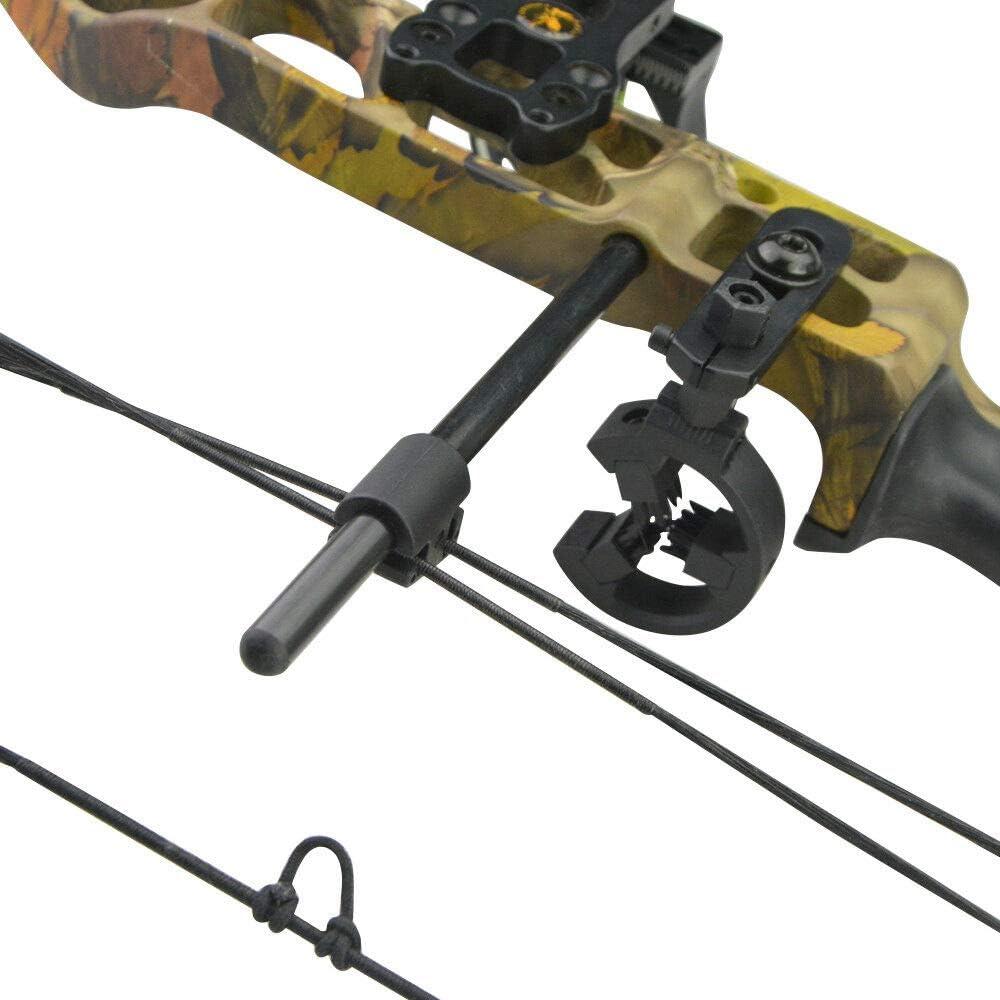 Weatlake 1pc Decut Carbon Archery Compound Bow String Suppressor Rod Stabilizer Silencer
