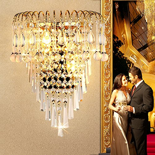MILUCE Luxury k9 crystal wall lamp European creative living room lights gold led bedside lamps by MILUCE (Image #2)