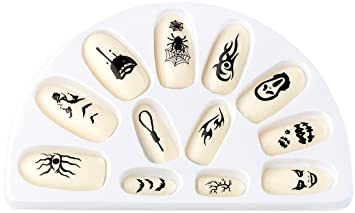 Con infactory uñas postizas Glow-in-the-dark-efecto, 12 pcs ...