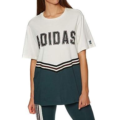 45b6306bec8 adidas T-Shirt – Adibreak Ss Beige/Green/Maroon Size: 6 USA – 10 UK ...