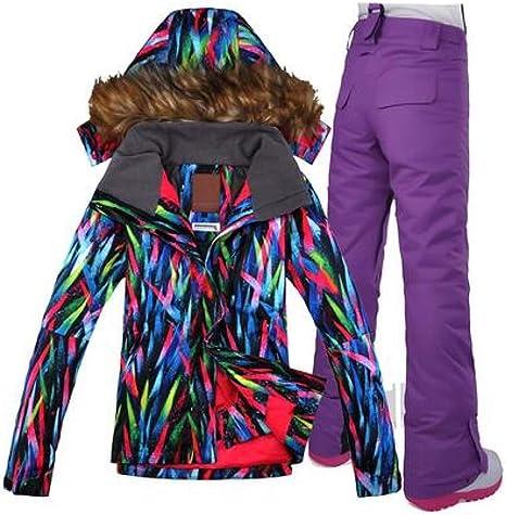 LDSHW Traje de esquí,Traje de esquí Chaqueta Impermeable Esquí ...