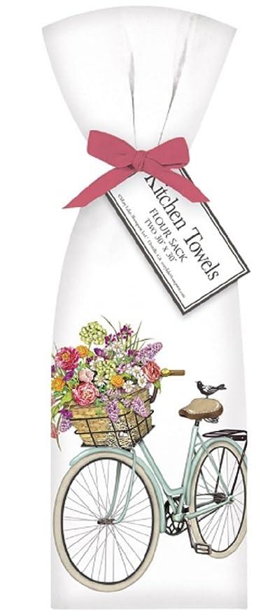 "Mary Lake Thompson /""Rabbit on Bicycle/"" Flour Sack Towel"