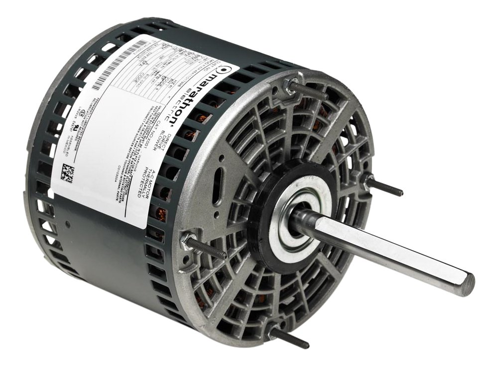 Marathon 48A17O154 Direct Drive Motor, 1 Phase, Open Air Over, Thru-Bolt, Ball Bearing, 1/4 hp, 1625 RPM, 3 Speeds, 208-230 VAC, 48Y Frame, Permanent Split Capacitor