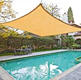 Cheap Fenceter 12'x16′ Rectangle Woven Sun Shade Sail Beige